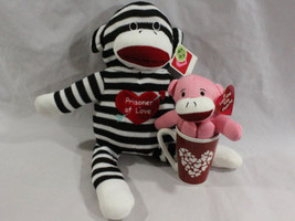 Valentine's Day Gift Set for Her 2 Love Pink/ Sock Prisoner Monkeys & He... - $34.95