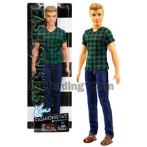 "Year 2016 Barbie Ken Fashionistas 12"" Doll KEN (DWK45) in Checked Green ... - $37.99"
