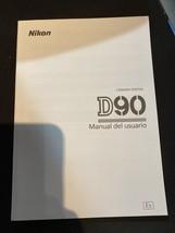 Spanish Original Nikon D90 Instruction Owners Manual Book New En Español - $17.77