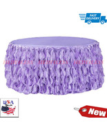 Curly Willow 14ft Table Skirt - Victorian Lilac new tone 1 PK FAST SHIPPING - $68.19