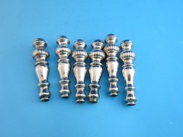 6 Spindle Shaped Silver Plated Handles for Arts & Crafts Projects - $8.49