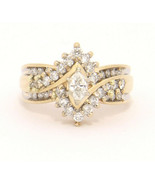 Keepsake 14k Yellow Gold Ring with 1.15 ctw Diamonds Size 7 .14 carat Ma... - $649.00