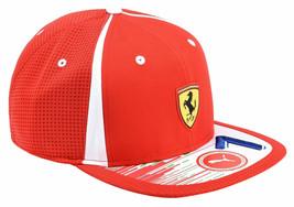 Puma Ferrari Men's SF Adjustable Sport Flatbrim Snapback Hat Cap 02153801 image 1
