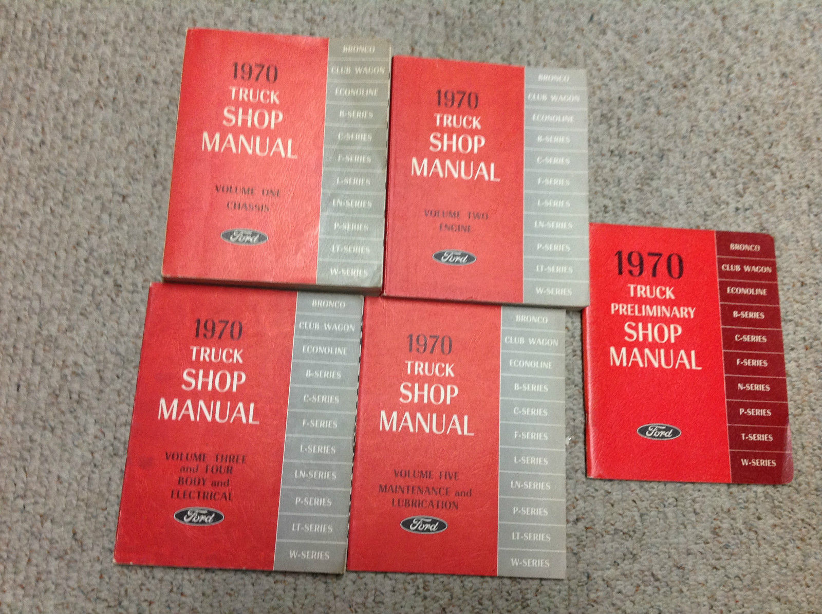 1970 Ford Truck Bronco F-Series Service Shop Repair Manual Set FACTORY OEM NICE