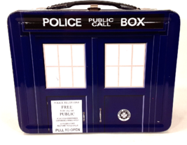 Dr. Who Collectible Metal Lunchbox Police Public Call Box Tin Metal Cont... - $19.99