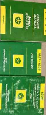 1998 JEEP WRANGLER Service Shop Repair Manual Set OEM FACTORY W PT & BODY DIAG