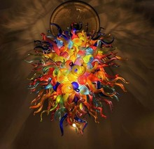 Handmade blown multi-color glass Chihuly chandelier, Murano Glass Chande... - $999.00