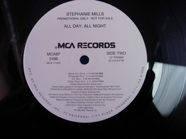 "Stephanie Mills - All Day, All Night - MCA 2486 - 12"" Single - $3.00"