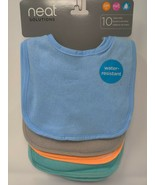 Neat Solutions 10pk Water Resistant Baby Bib Set - Assorted Pastel Colors - $7.00