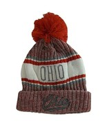 Ohio Plush Lined Embroidered Winter Knit Pom Beanie Hat (Red/Gray/Gray S... - $15.15