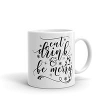 New Mug - Eat drink and be merry Mugfunny coffee mugs christmas - £8.52 GBP+