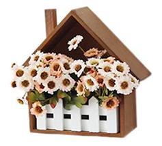 PANDA SUPERSTORE Creative Wooden Fence Decorative Flower Box Wall Hangings Shelv