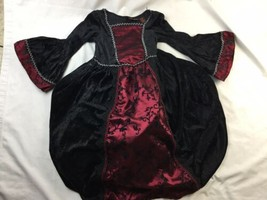 Girls Victorian Gothic Renaissance Dress Costume By Spooked Size Large 6X - $28.04