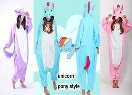 Unicorn Tenma Unisex Onesie1 Sleepwear Kigurumi Pajamas Animal Cosplay Costume - $22.99