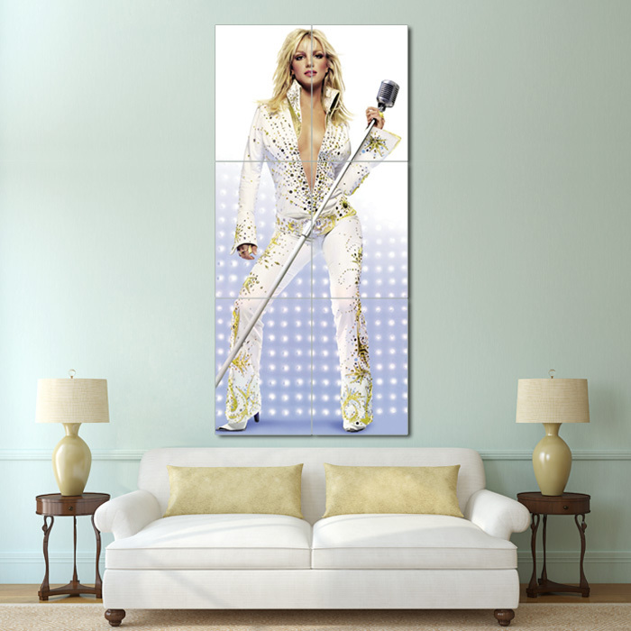 Primary image for Wall Poster Art Giant Picture Print Britney Spears Live from Las Vegas 0837PB