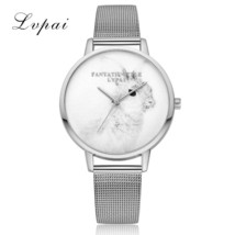 Lvpai® Silver Luxury Cartoon Rabbit Dial Quartz Watch Women Fashion Brac... - $5.23
