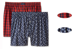 New Mens Tommy Hilfiger 2 Pack Gift Box Woven Cotton Underwear Boxer S - $20.50