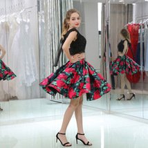 Lace Floral Print Prom Dress Homecoming Gown Maxi Dress Cocktail Dress for Girl - $125.00