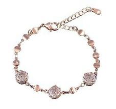 Amethyst Bracelet Heart-shaped Rose Gold Bracelet Hand Jewelry Fashion Jewelry