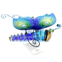 Painted Metal & Glass Solar Powered Light Garden Decoration Butterfly Decor image 5