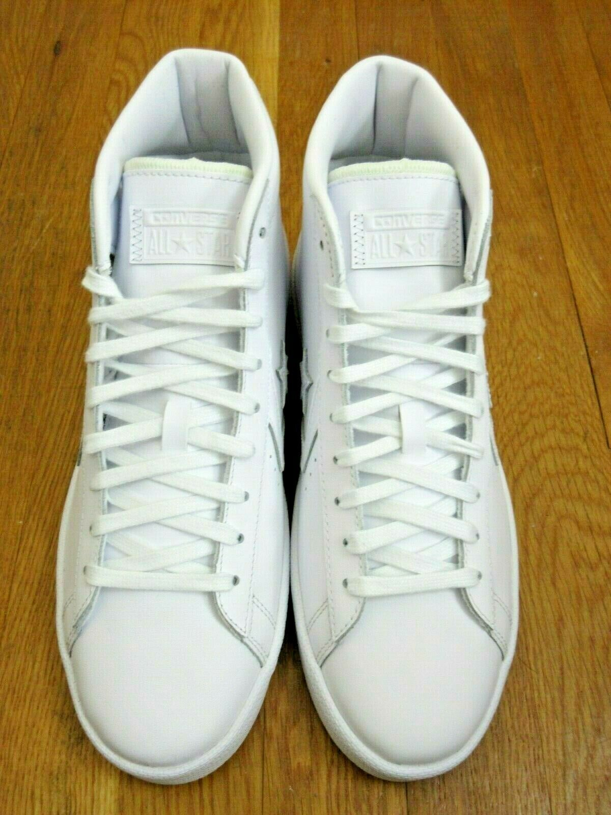 Converse Mens PL 76 Mid Leather Basketball Shoes Classic Triple White Size 9   image 3