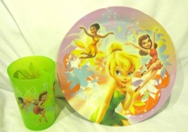 """Tinkerbell+Fairies 8"""" Dinner Plate and 9 oz. Tinkerbell and Fairies Cup-... - $14.84"""