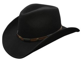 NEW Conner Shapeable 3.5 Brim 100% Rain Proof WOOL Cowboy Hat Black C1018 - €59,26 EUR