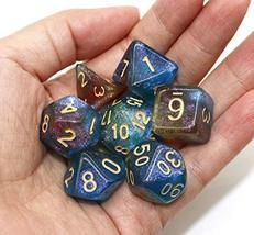 HD Dice Polyhedral Glitter Dice Set Blue Green Red DND Dice Fit Dungeons and Dra image 6