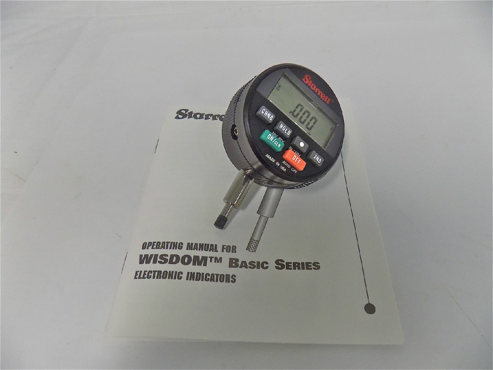 Electronic Drop Indicators : Starrett quot mm wisdom basic electronic drop