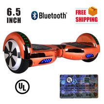 "Rose Gold Chrome Bluetooth Hoverboard Two Wheel Balance Scooter 6.5"" - $249.00"