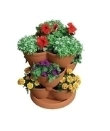 30-Quart Stacking Pot Planter in U.V. Protected Plastic - £74.56 GBP