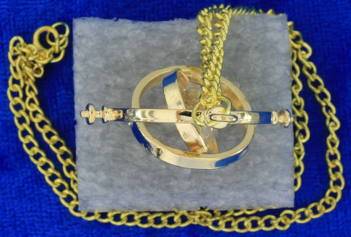 Time Turner Hermione Granger's Necklace Gold/Beige Gyroscope Rings Small