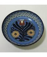 Johann Lipp Mering Majolica German Sgraffito Decorated Bowl Flower Decor - $41.50