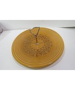 "Casualstone by Coventry Round Serving Plate With Handle 12"" Antique Gold... - $38.97"