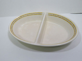 Franciscan Earthenware Hacienda Gold Divided Vegetable Dish Bowl Mid Cen... - $12.17