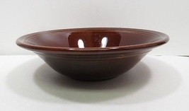 "Vtg Homer Laughlin FIESTA Brown AMBERSTONE Flared Fruit Serving Bowl 9"" - $38.97"