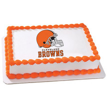 CLEVELAND BROWNS NFL Edible Cake Topper license... - $8.25