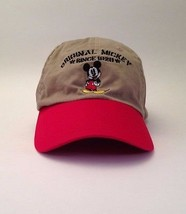 Disney Original Mickey Mouse Since 1928 Cap Hat Beige Red Cartoon Movie ... - $21.28