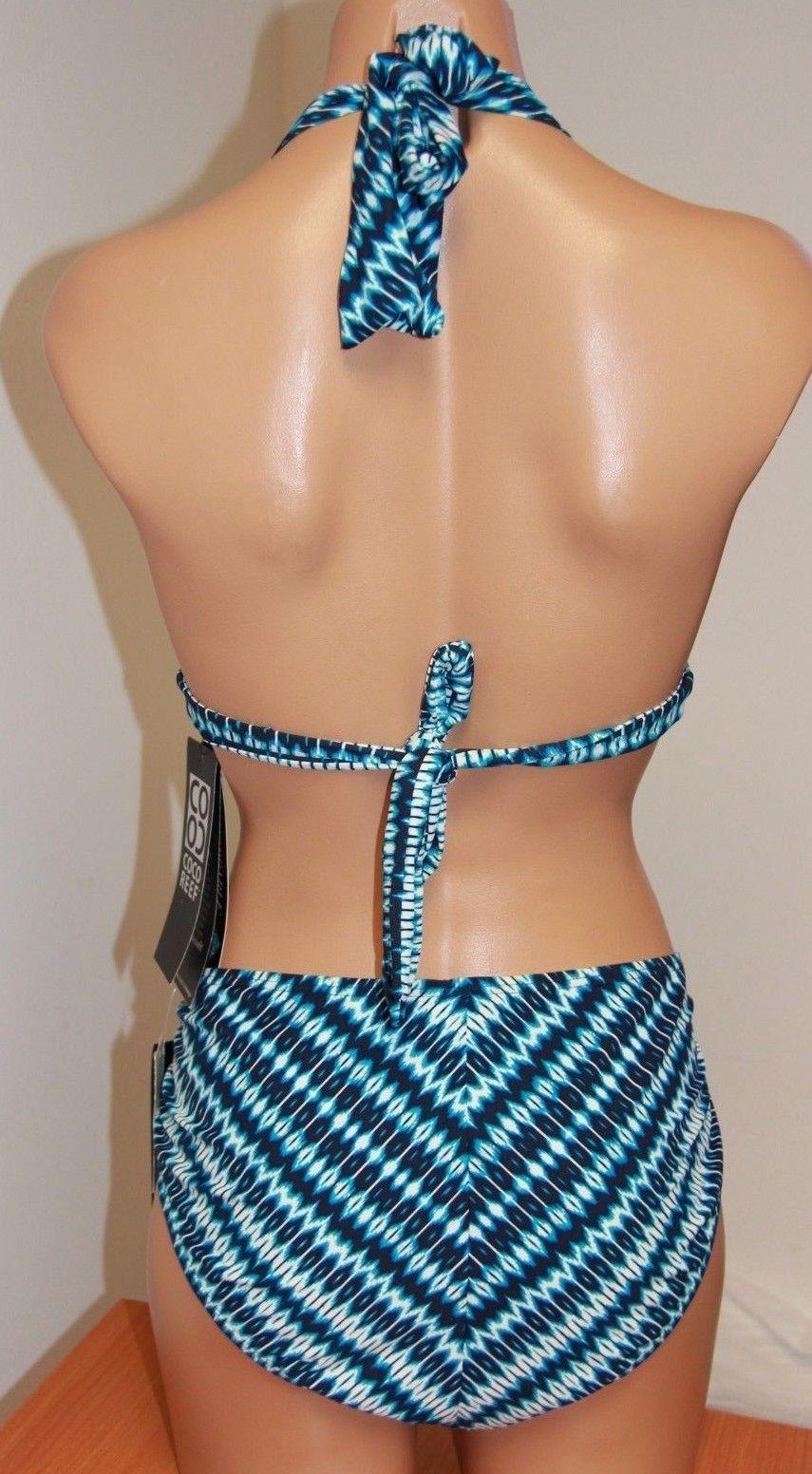 New Coco Reef Swimsuit Bikini 2pc Set Size 36/38C/XL Navy Capta