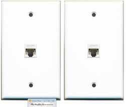 (2 Pack Lot) RiteAV 1 Port CAT5E Rj45 Ethernet Network Wall Plate White - $18.68