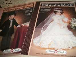 Victorian Groom & Victorian Bride Crochet Clothing Patterns - $6.00