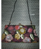 Valerie Stevens Floral  Multicolored Beaded Embroidered Purse - $23.00