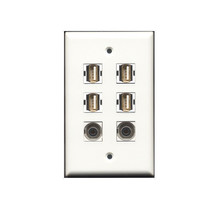 RiteAV CUSTOM WALL PLATE 4 x USB 2.0 A/A Female and  2 x 3.5mm Audio - $24.62