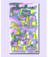 Hand-painted Card Well Wishes Love Joy Peace Ha... - $3.75