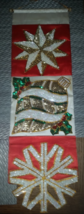 Antique Old Hand Made Sequin & Beaded Christmas Wall Hanging Decoration - $34.99