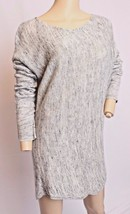Vince Gray White Linen Blend Tunic Sweater L - $75.99
