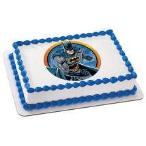 BATMAN KaBOOM Edible Cake Topper licensed by De... - $8.25