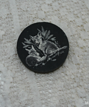 Vintage Llechwedd Slate Product Line Drawn Fox Paperweight, made in Wales - $10.00