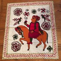 Hindu Style Yarn Crewel Needlework Embroidered ... - $37.40