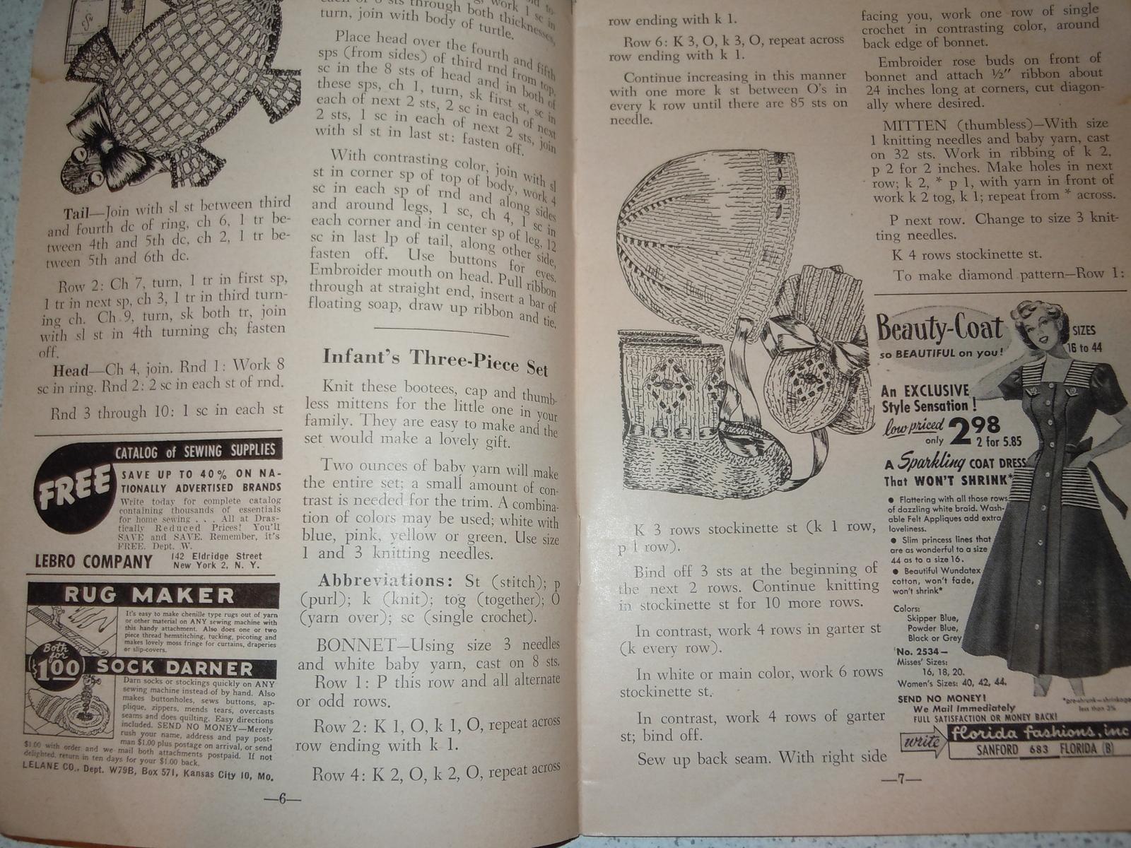 The Workbasket Magazine Set of 2 1944 & 1949 and 50 similar items